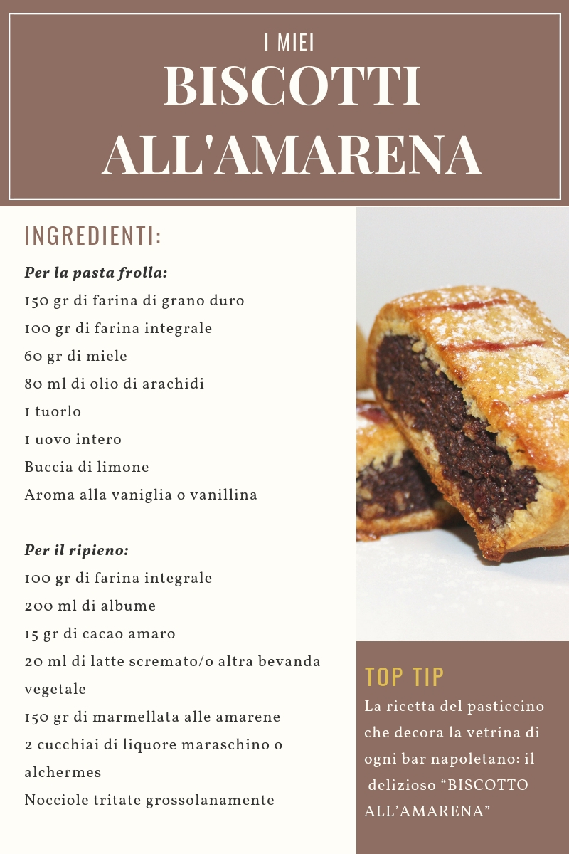 Ingredienti Ricetta biscotti all'amarena